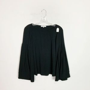 Ro & De | bell sleeve blouse black size small